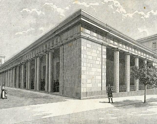 Il colonnato dell'antico mercato di Cagliari, mercau becciu