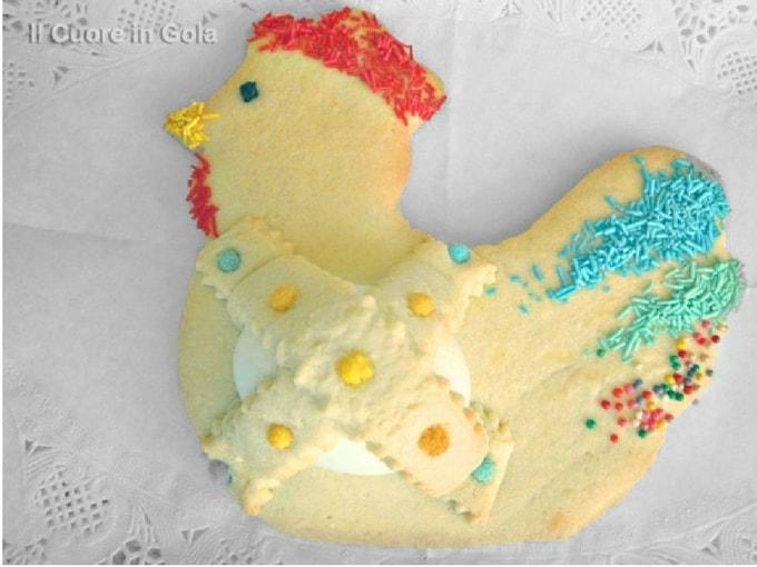 Pannarelle dolci di pasqua, biscotto a forma di gallinella